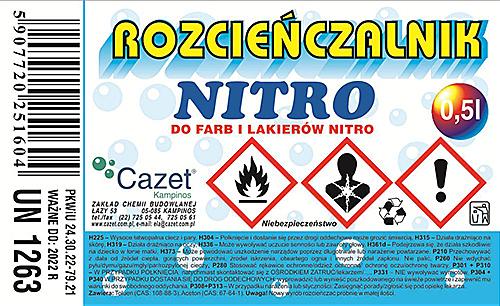 """ROZCIEŃCZALNIK  """"NITRO"""" PKWiU 24.30.22-79.21"""